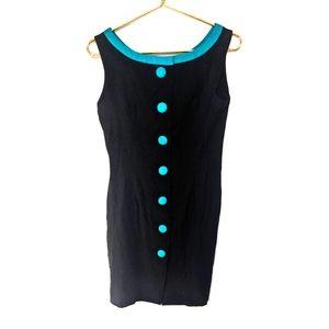 Vintage Ann Taylor Button Down 60s Style Dress 6